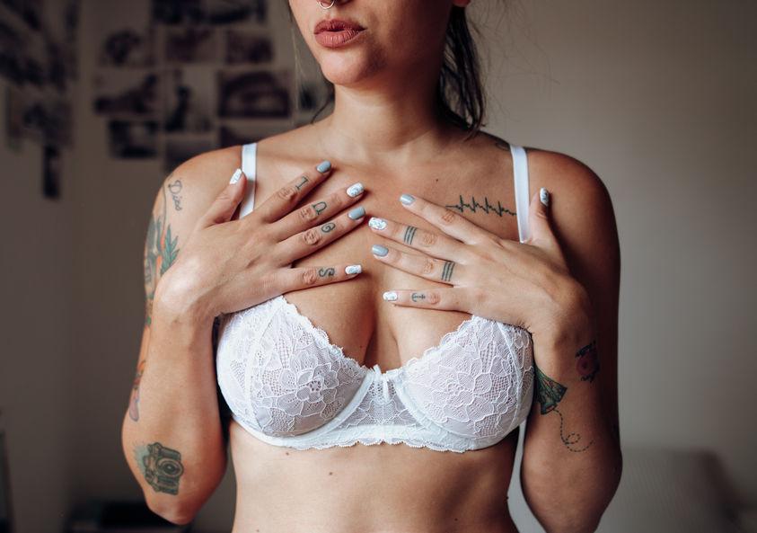 Breast cancer football gloves