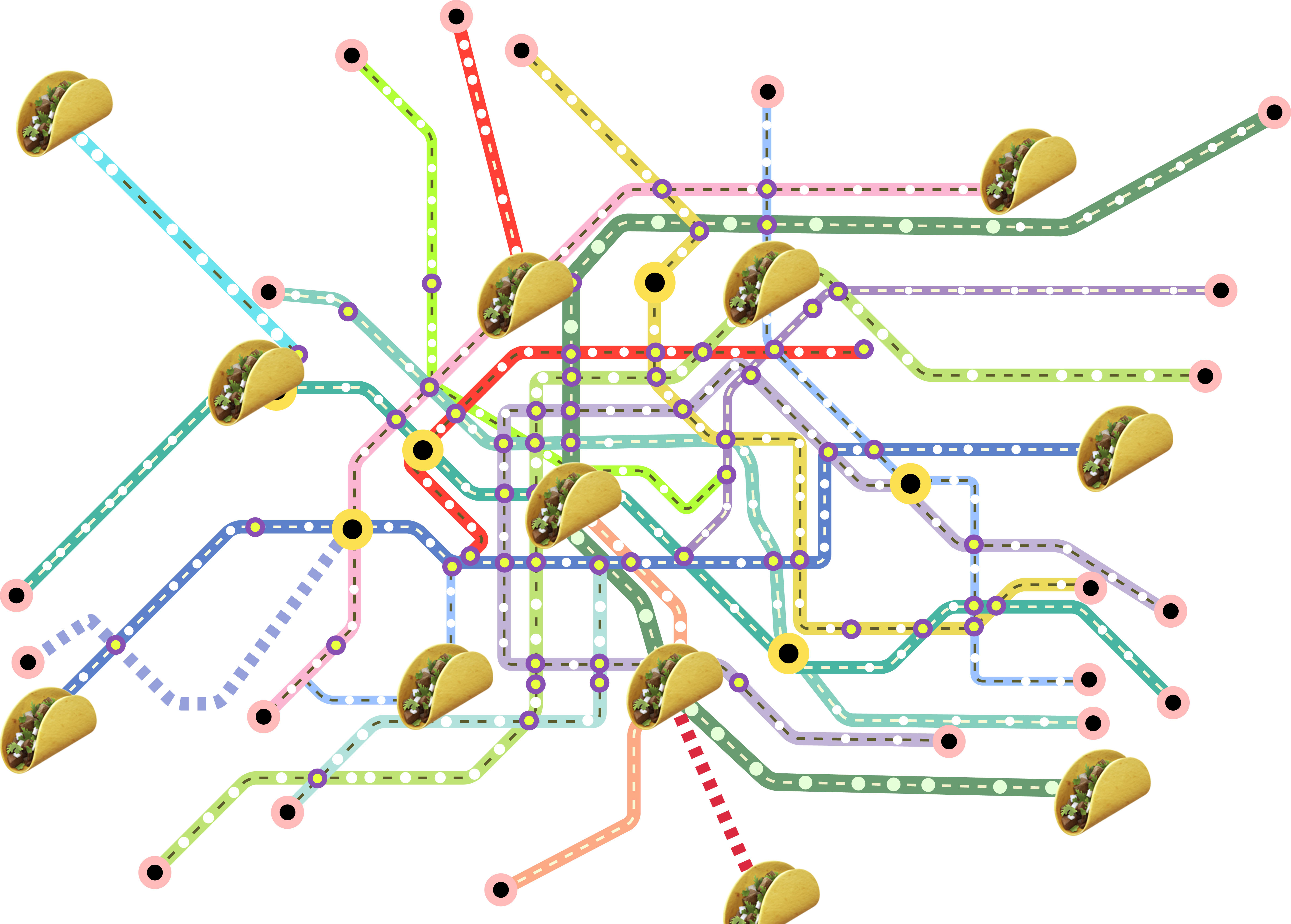 This Bay Area Taco Bell Transit Map Looks Way Better than BART ...