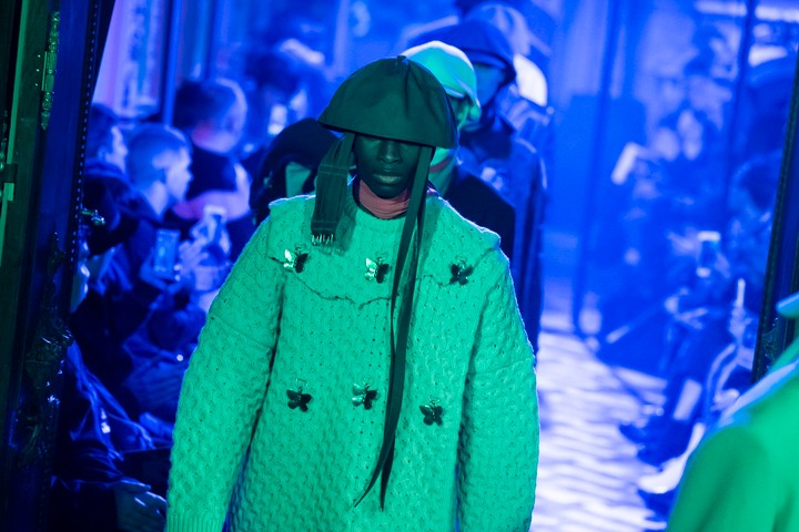 raf simons delivered a defiant david lynch-themed creative call of arms