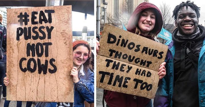 On a demandé aux jeunes de la marche pour le climat ce que signifiaient leurs pancartes