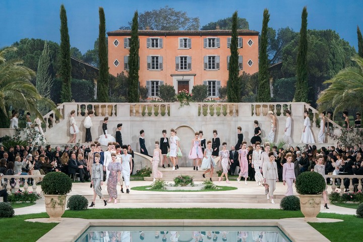 chanel take us to a mediterranean villa for couture