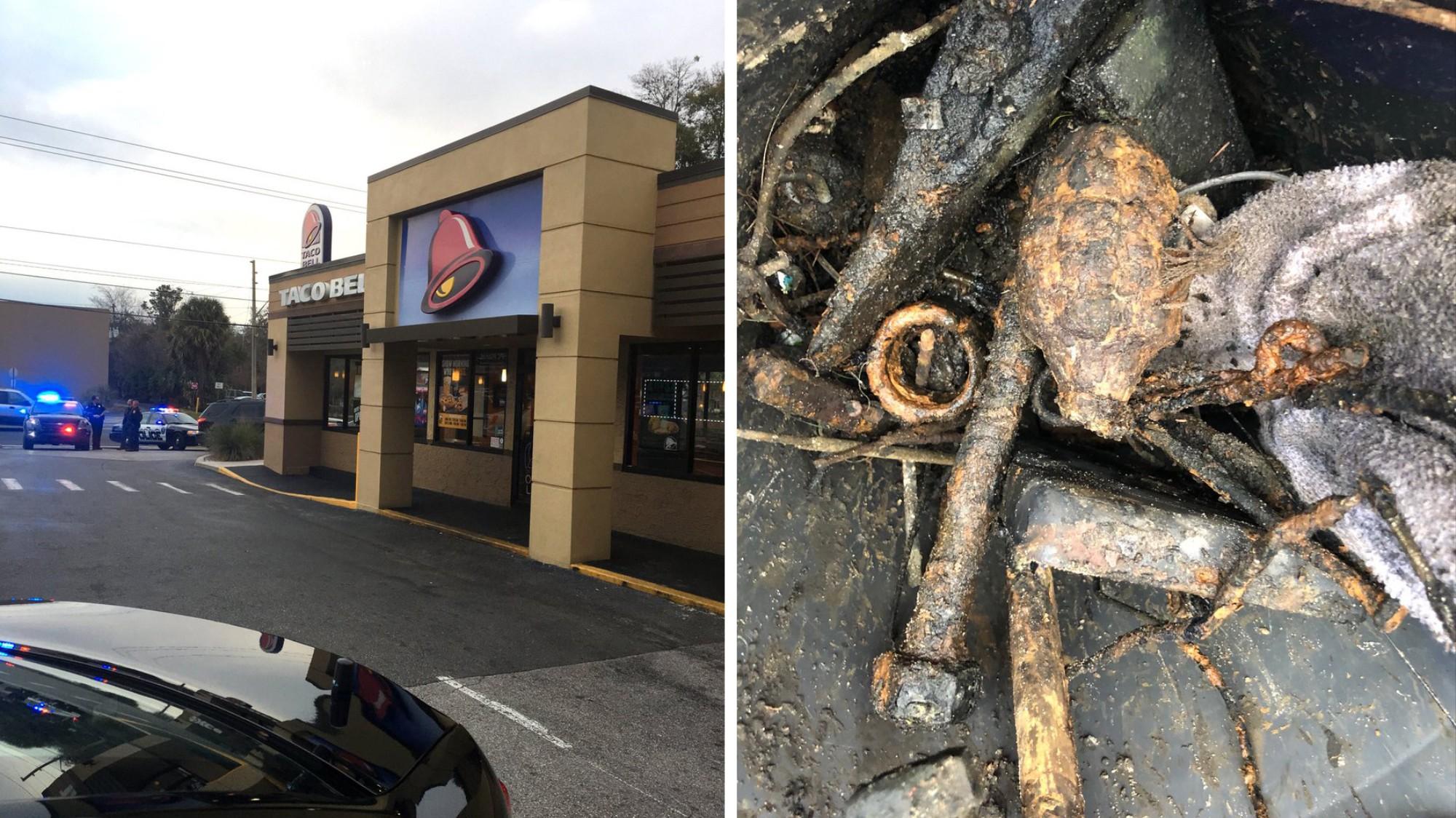 Image result for hombre de Florida encontró una granada de la Segunda Guerra Mundial