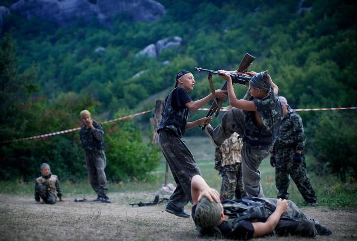 Dans le camp ukrainien où les enfants apprenaient à tuer