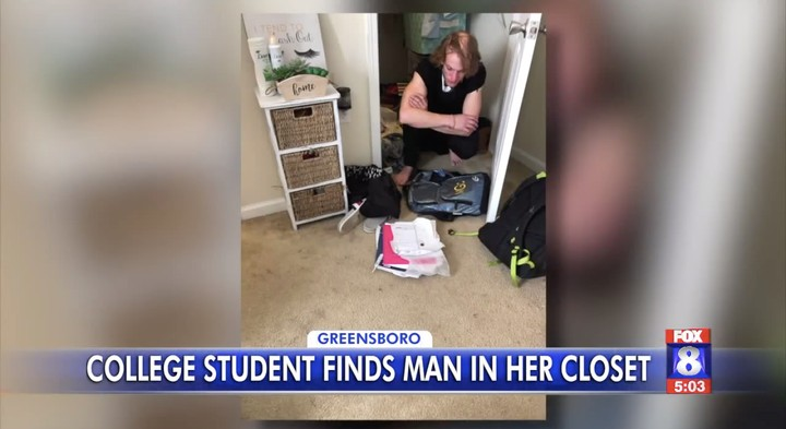 Woman Who Heard a 'Ghost' in Her Room Finds Stranger Hiding in Her Closet