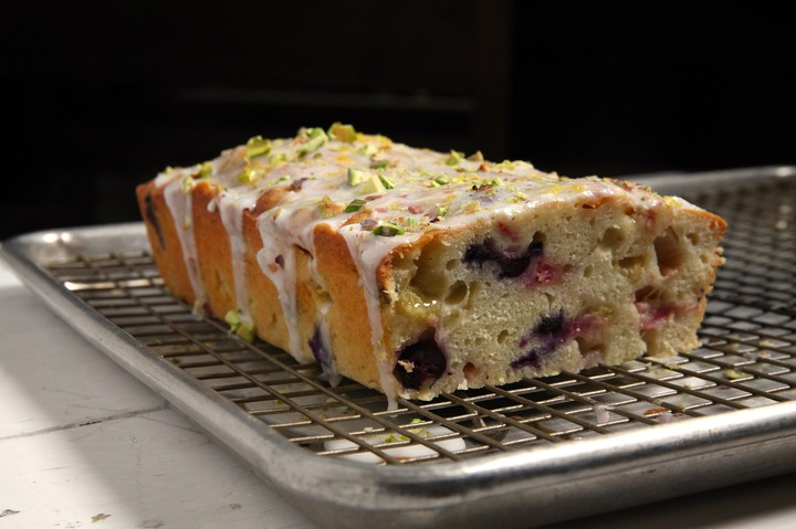 Rhubarb, Blueberry, and Yogurt Cake Recipe