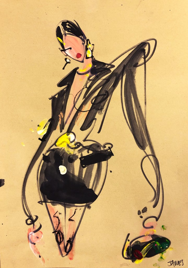 catwalk illustrations from our favourite shows at milan and paris