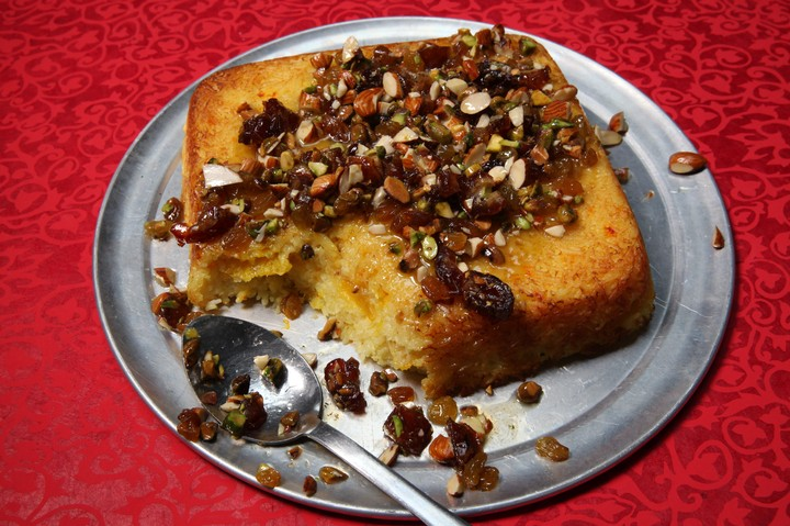 Orange, Saffron, and Honey Tahchin Recipe