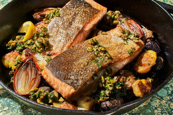 One-Skillet Crispy Skin Salmon Recipe - VICE