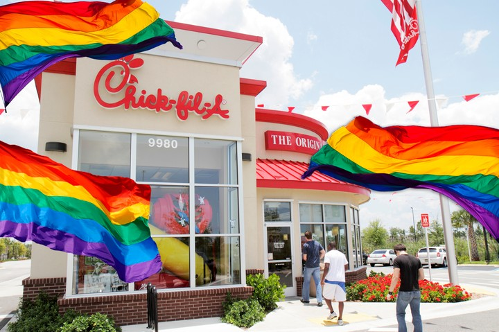 Bay Area City Stuck with a Chick-fil-A Vows to Make It the 'Gayest in the Country'