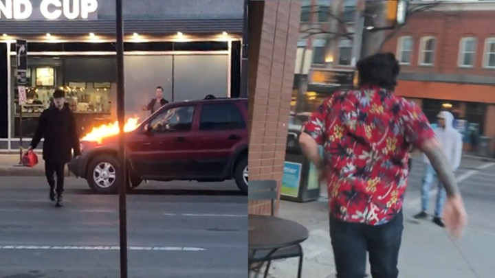 This Man Was Caught on Video Lighting Cars on Fire in Edmonton, Canada