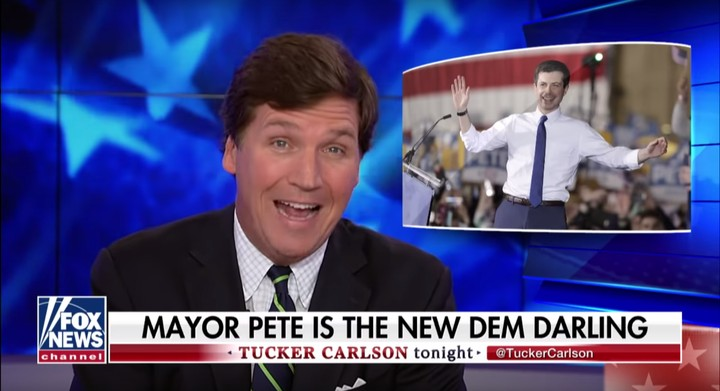 Watch Tucker Carlson's Unhinged Rant About Eating Buttigieg Like a 'Hearty Stew'