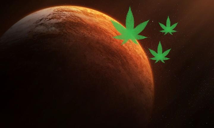 Como seria fumar maconha em Marte?