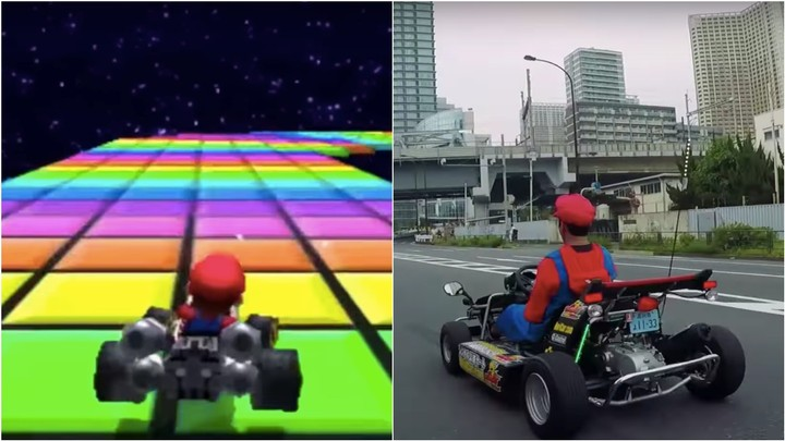 Someone Illegally Drove a Real-Life Mario Kart over Tokyo's Rainbow Bridge