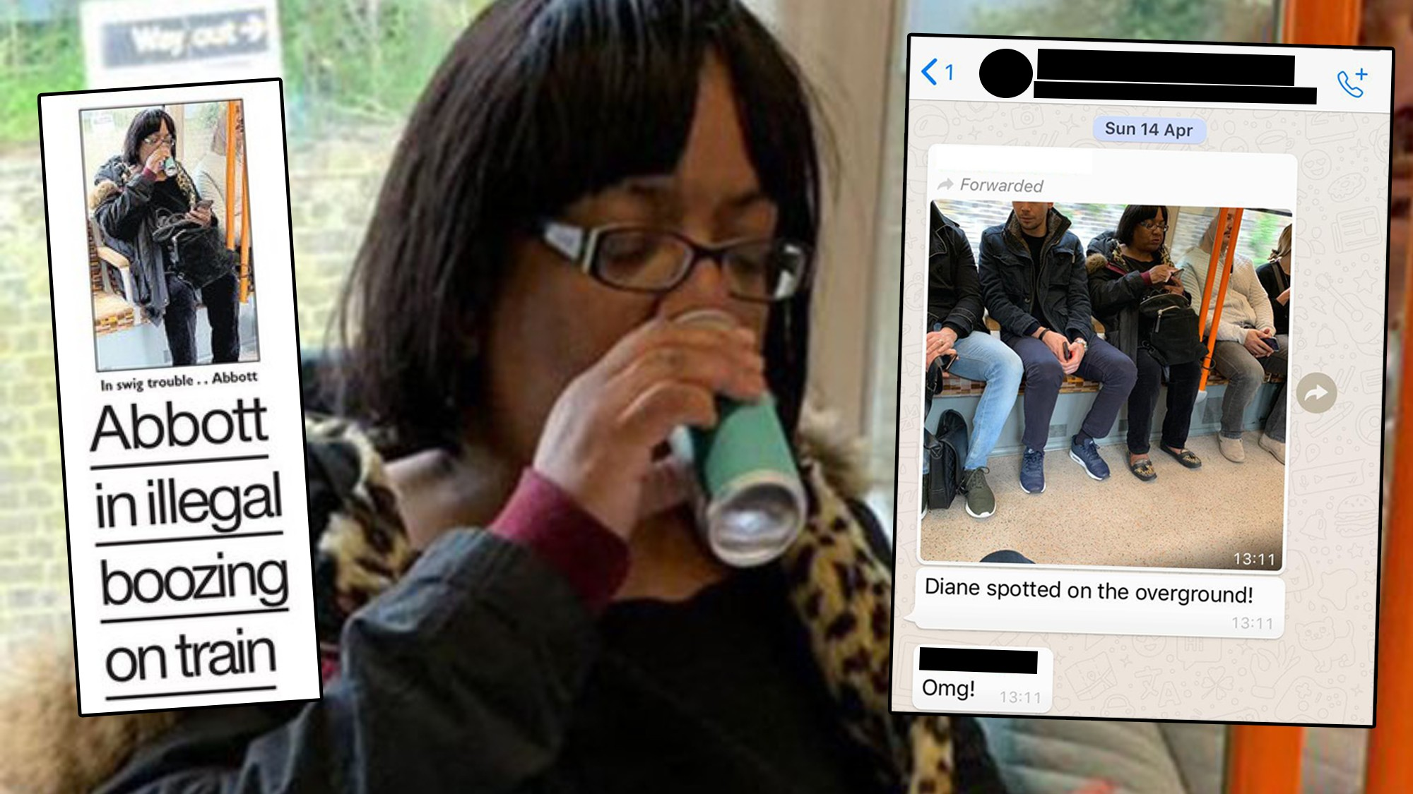 Diane Abbot Drinking a Mojito on the Overground: The Man Who