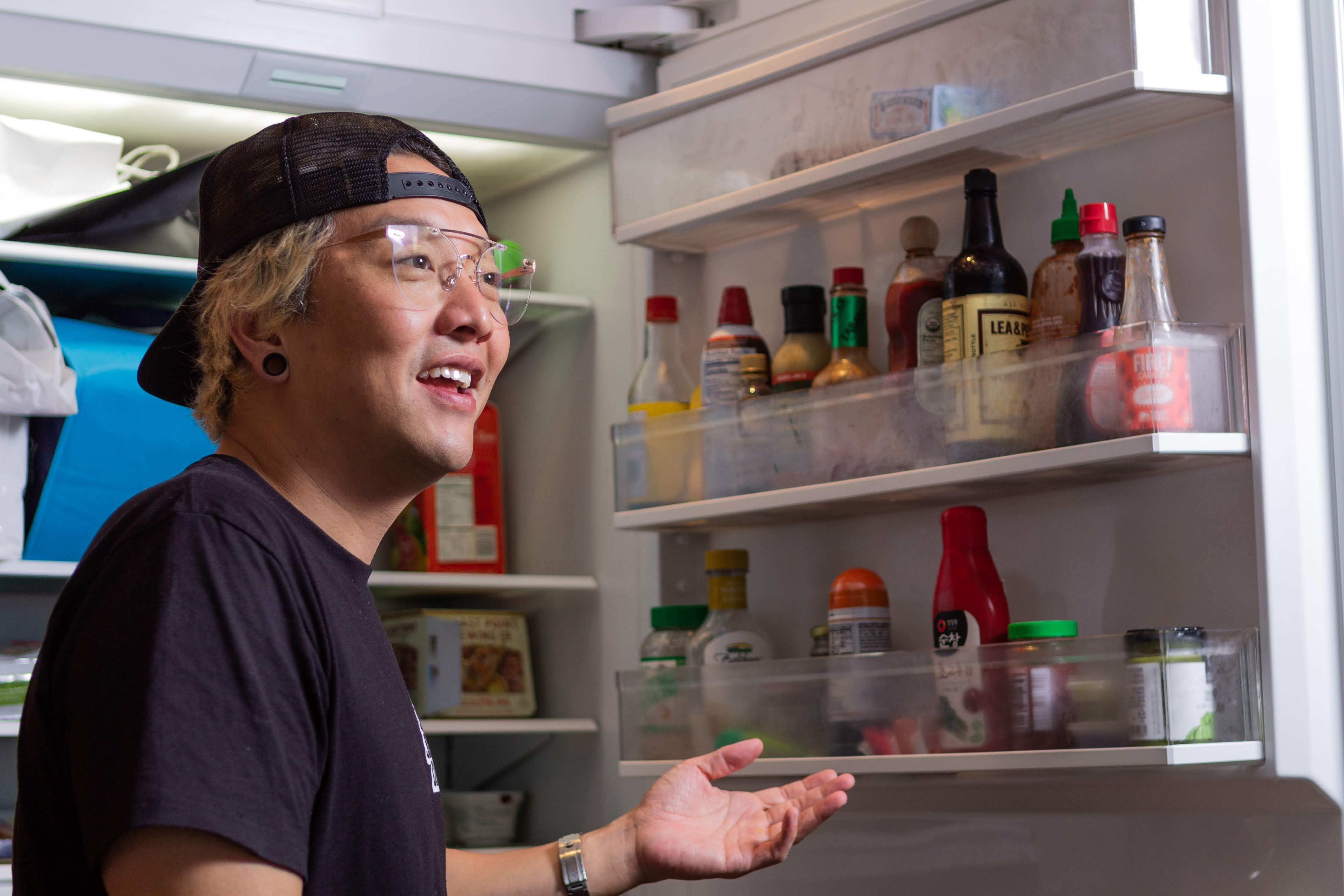 Chef chris oh keeps a frozen egg mcmuffin in the fridge for hangover emergencies
