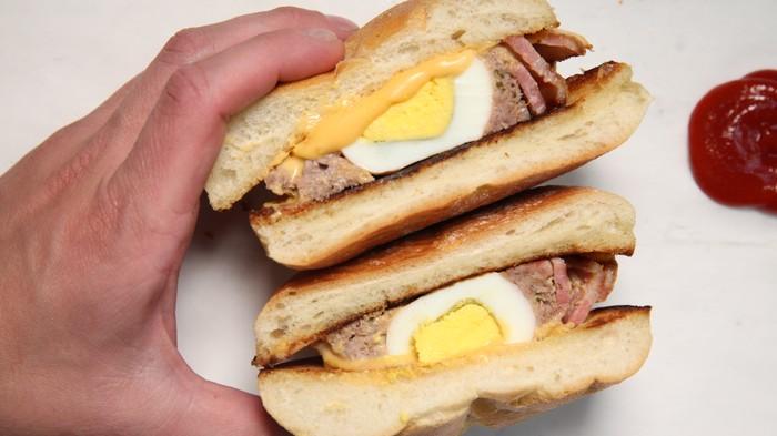 Breakfast Meatloaf Sandwich Recipe