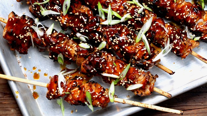 Grilled Sesame Chicken Skewers Recipe