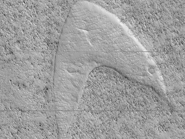 NASA Spots a Martian Feature That Resembles the 'Star Trek' Logo - VICE