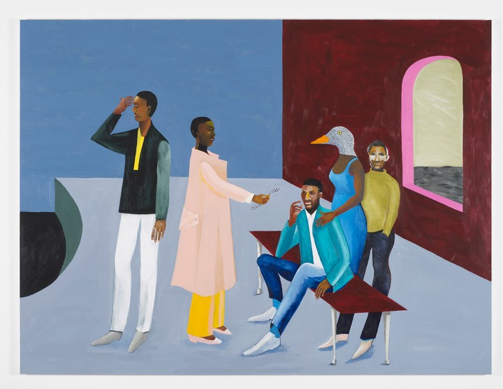 lubaina himid's colorful paintings explore the influence of the african diaspora