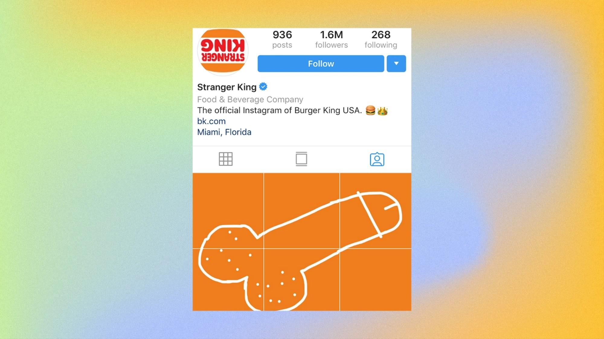 Burger King's Instagram Is Full of Giant Penis Drawings - VICE