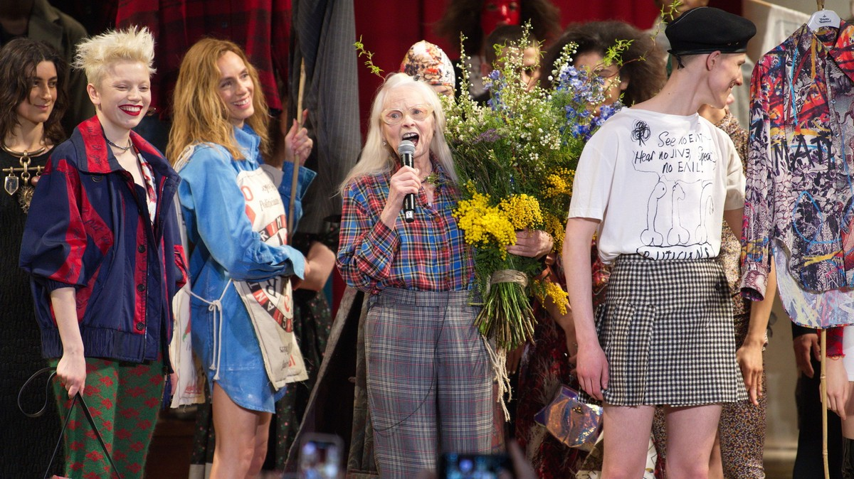 vivienne westwood and greenpeace talk staying angry and finding hope