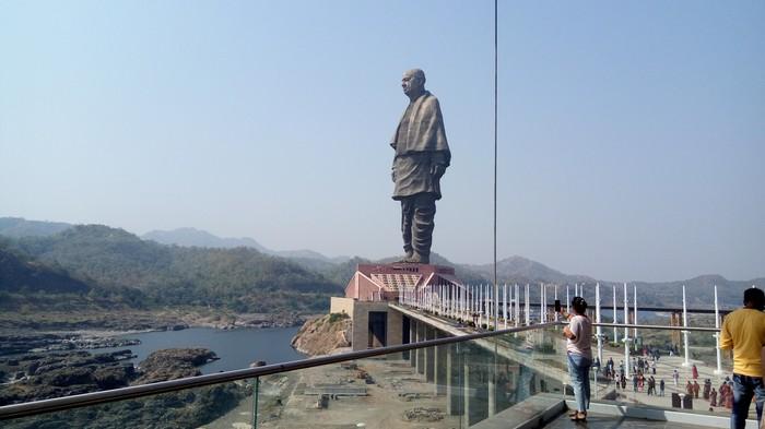 Gujarat's 3,000 Crore Statue of Unity Gets Flooded, Officials Claim It's a Design Feature