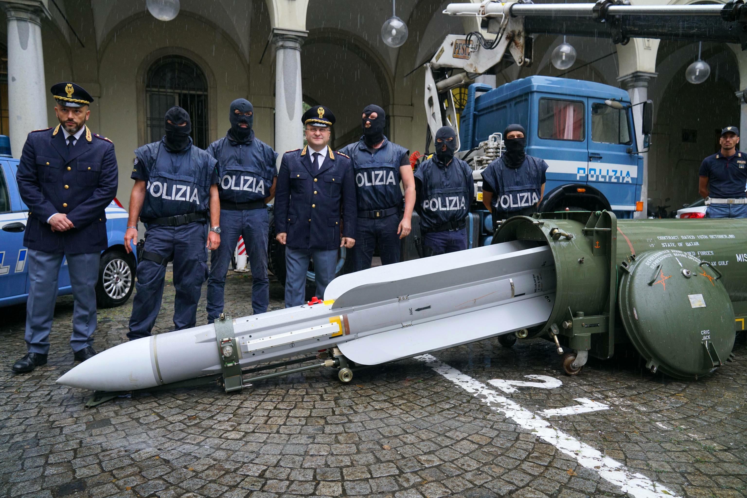 Italian Police Found an 11-foot-long Missile and Nazi Propaganda During a Far-Right Raid.