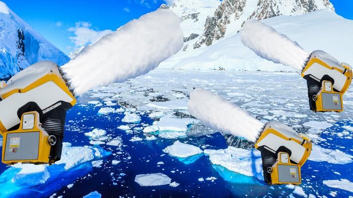 Saupoudrer l'Antarctique de neige pour régénérer la calotte glaciaire