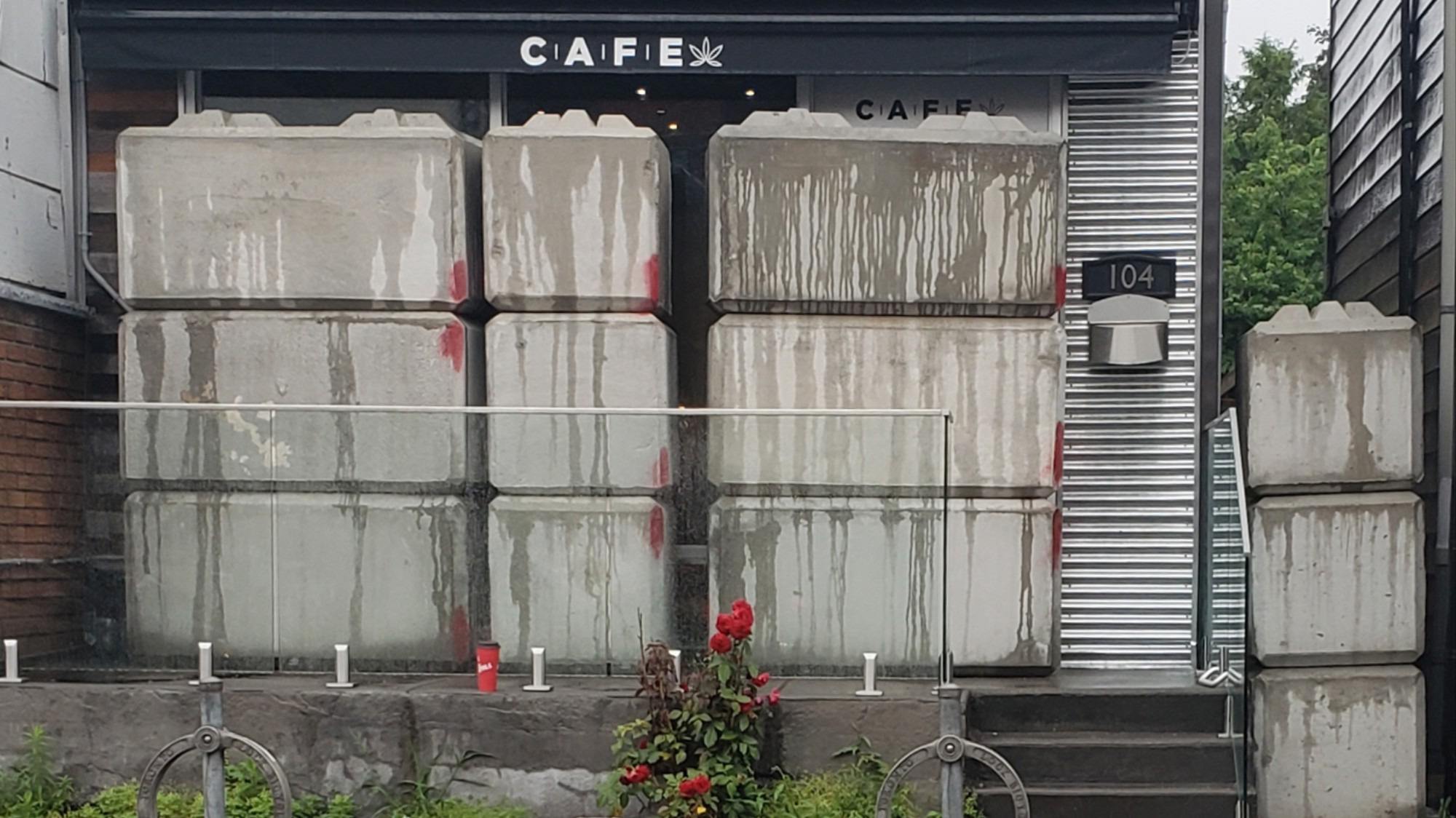 A Man Got Trapped Inside a Concrete-Entombed Weed Shop in