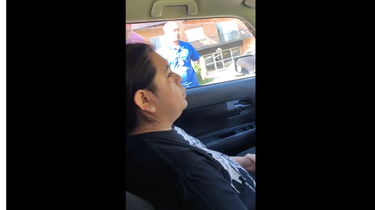 video shows ice agents smashing a family's car window and
