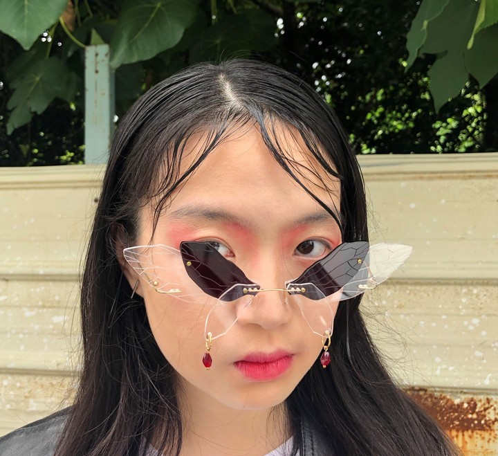 These ornate butterfly-shaped sunglasses have the internet obsessed - i-D