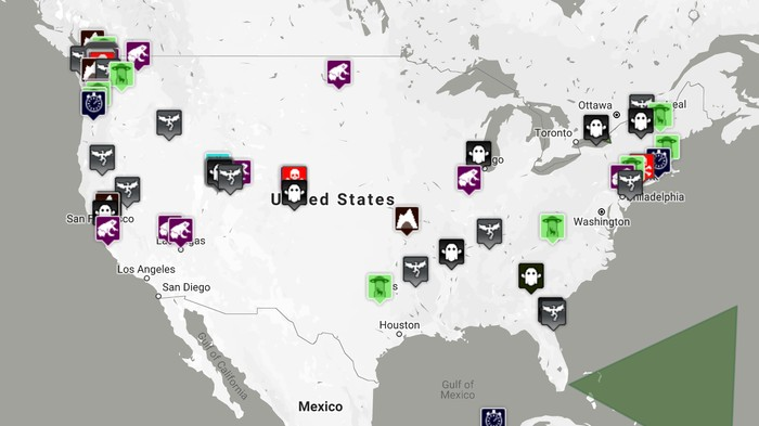 This Crowdsourced Map Documents UFO Sightings, Cryptids, and the Supernatural