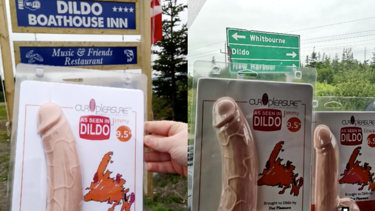 Dildo Residents Are Mad About a Pair of Dildos Parading Around Their Town