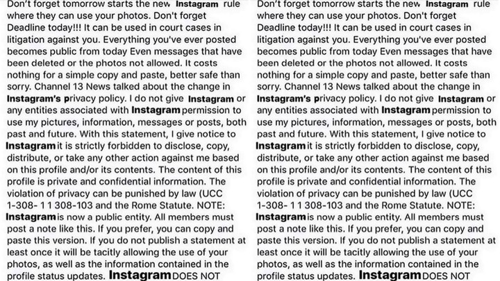 oh my god, obviously that viral instagram post is a hoax