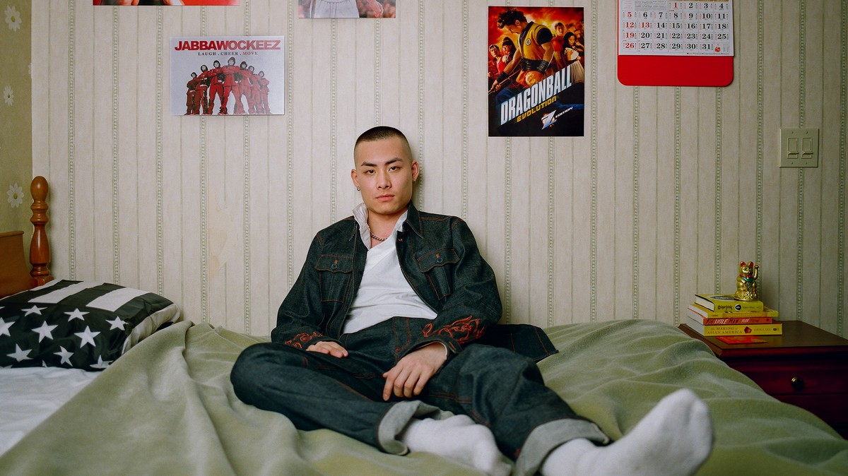 these striking portraits of asian men explore what it means to be 'the all-american'