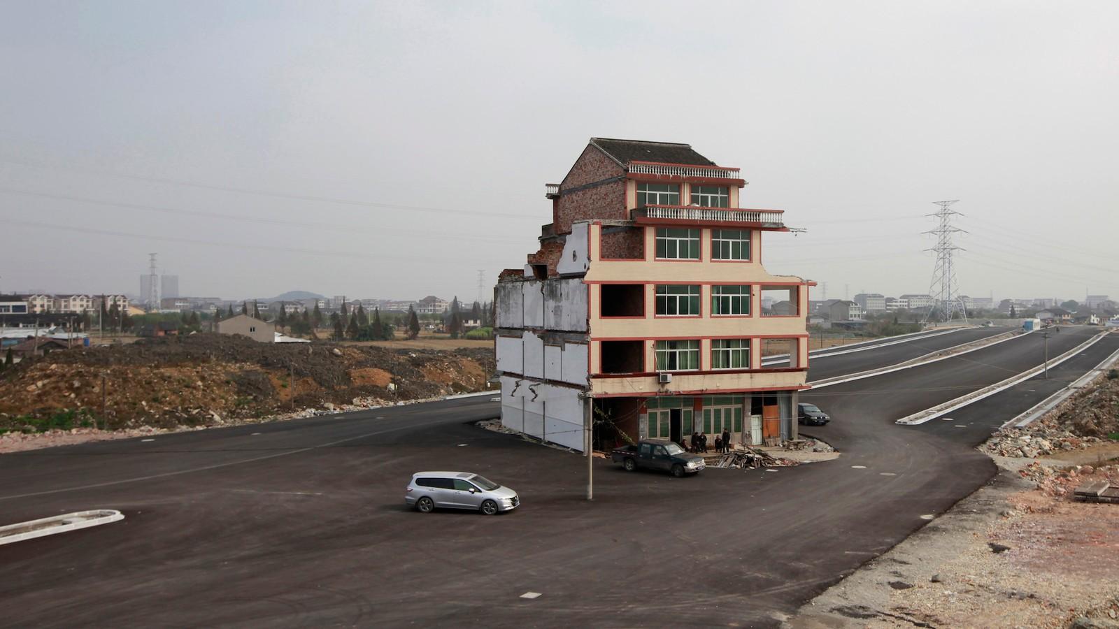 Les maisons chinoises que leurs propriétaires refusent de vendre