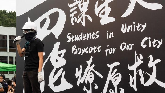 Protestos se espalharam pelas escolas de Hong Kong
