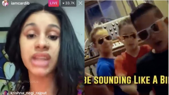 No, Cardi B Isn't Beefing With Some Suburban Rapping Quadruplets