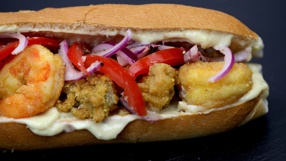 Shrimp and Oyster Po'Boys Recipe