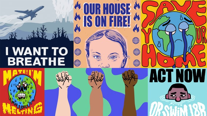 Our Favourite Illustrators Drew Us Some Global Climate Strike Placards