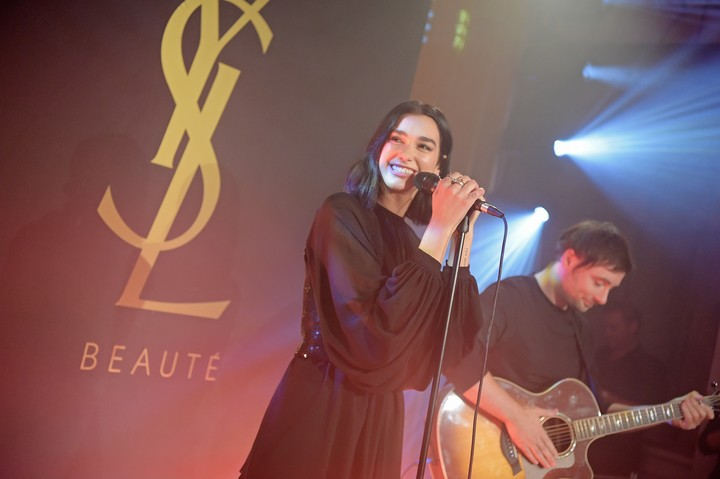 ysl beauty launched their new fragrance libre with dua lipa last night