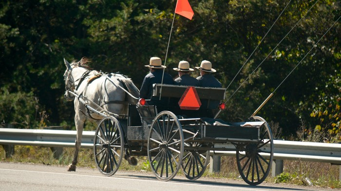 Two Amish Men Escaped the Cops After Being Caught Chugging Beer in a Horse-Drawn Buggy