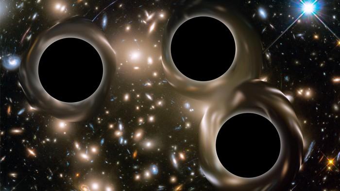 Drei supermassereiche Schwarze Löcher befinden sich auf Kollisionskurs