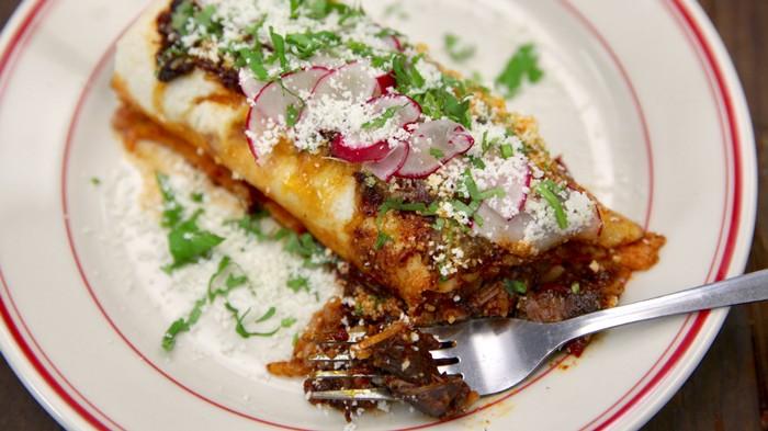 Chile Con Carne Colorado-Style Burritos Recipe
