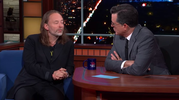This Thom Yorke 'Colbert' Interview Is Essential Late Night TV