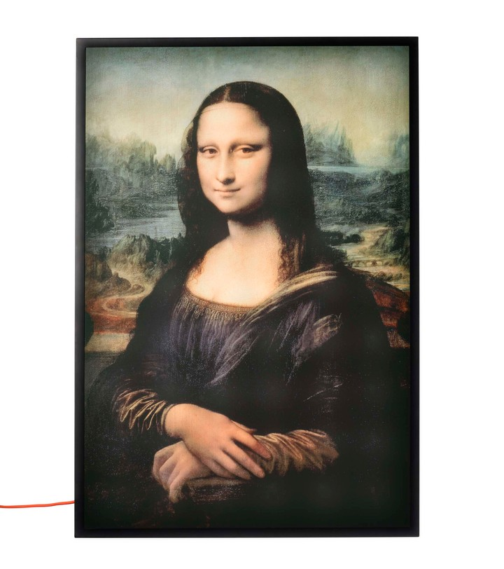 virgil abloh has made a light up mona lisa that will charge your phone