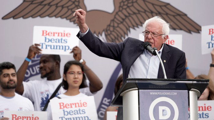 Inside Bernie's Fight to Stay Close in Iowa