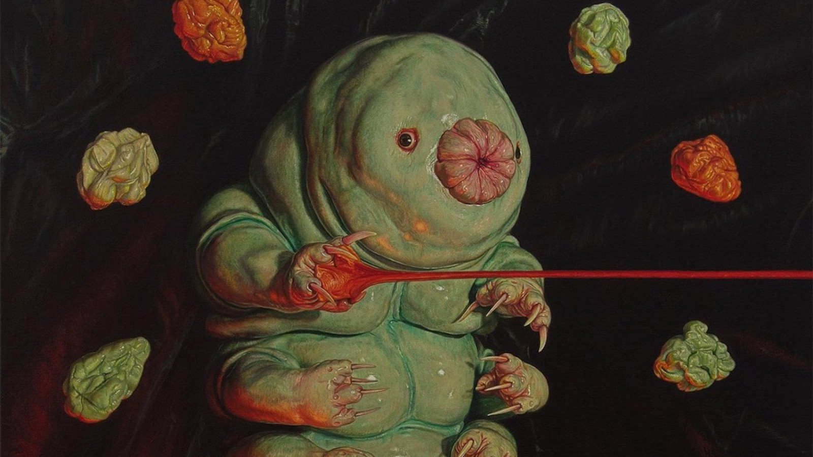 Please Enjoy These Oil Paintings of Tiny Little 'Water Bears'