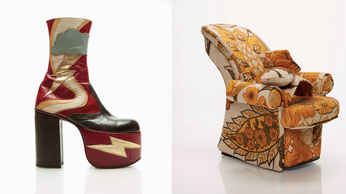 these punk-inspired heels are wearable art