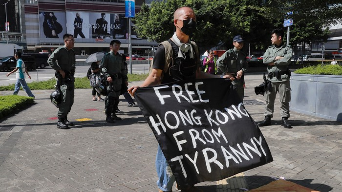 A Group of Masked Men Attacked a Hong Kong Protest Leader With Hammers and Knives